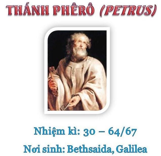 Triều đại 1: Thánh Giáo hoàng Phêrô