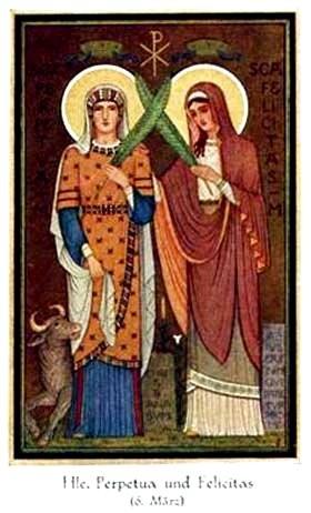 Thánh Perpetua và Fecilia, Tử đạo (Thế kỷ III)